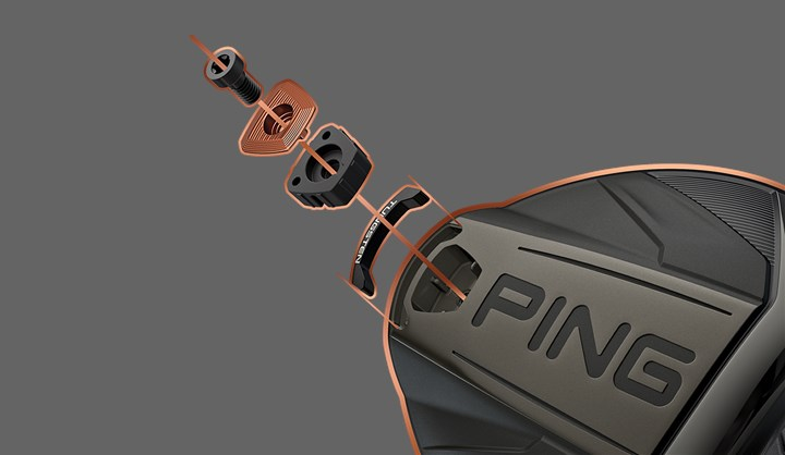 Tungstensvikt, Exploded view of G400 driver back weight
