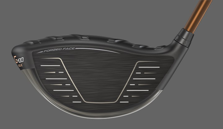 Forgé pour la flexibilité, G400 Max Driver face view