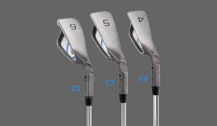 Lighter Swingweights, GMax irons 4,5,6 showing swingweights of C6,C7,C8, respectively
