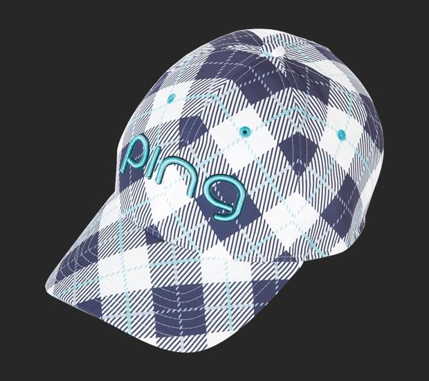 Ladies 6-Panel Plaid Cap